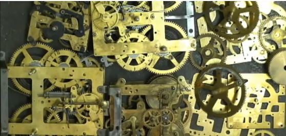 steampunk clock video