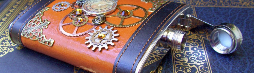 Clockworks Steampunk flask