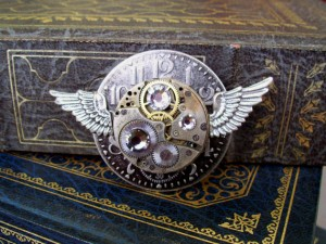 Aviator steampunk pin