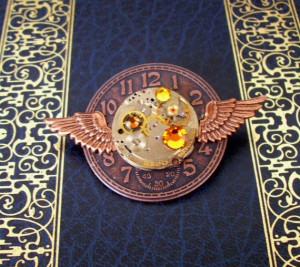 Steampunk Aviator Pin