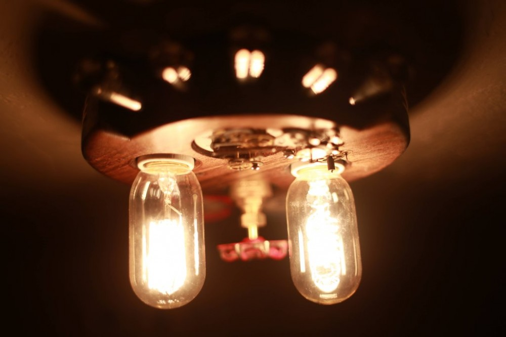 Steampunk ceiling light (2)