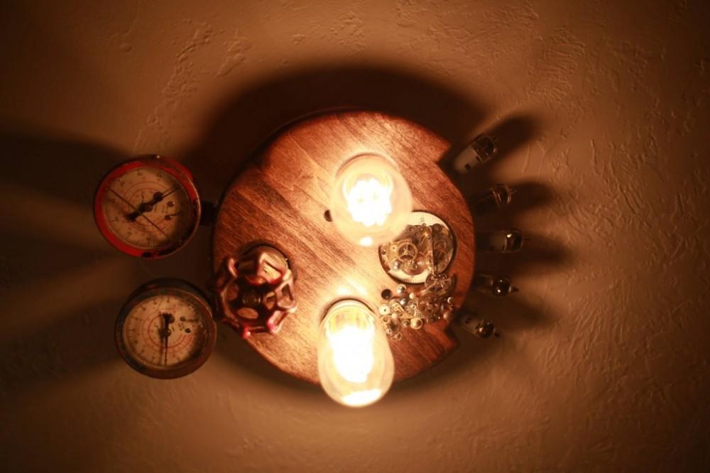 Steampunk light fixture
