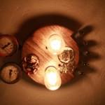 Steampunk ceiling light