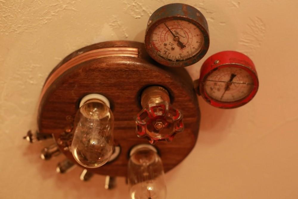 Steampunk light fixture(5)