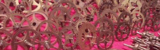 vintage clock gears header